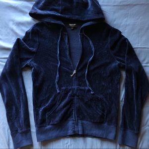 Juicy Couture Black Label Velvet Zip Up Hoodie